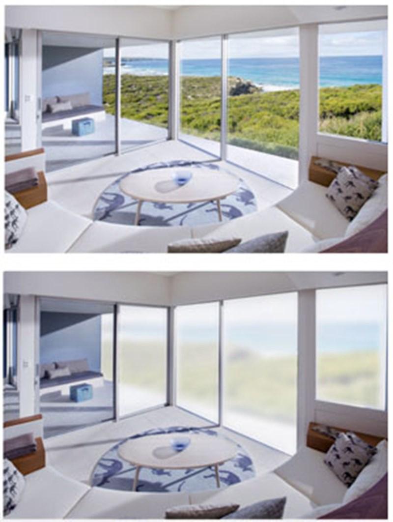 Fenster Folie Wird Per Smartphone Steuerung Undurchsichtig