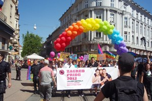 Gay Pride 2012 in Zagreb.
