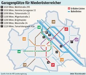 Billigere Garagenplätze Für Pendler In Wien Parken In Wien