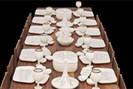 foto: atelier van lieshout, slavecity, table with dinnerservice, 200
