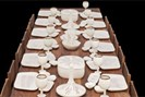 foto: atelier van lieshout, slavecity, table with dinnerservice, 200