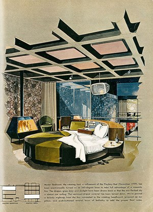 Master Bedroom im Playboy Townhouse, Ausgabe Mai 1962.