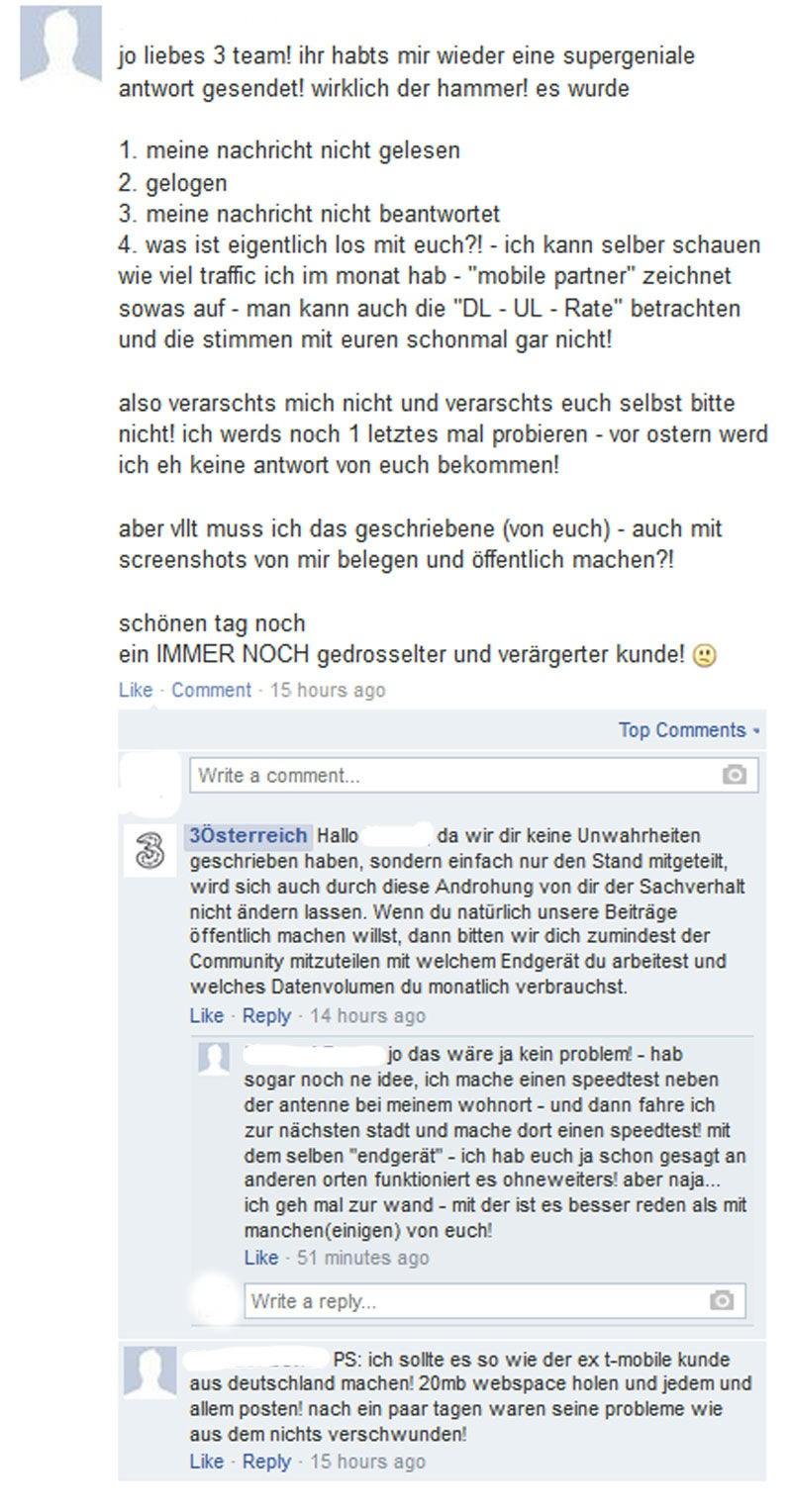 1c2489911a Mobilfunker auf Facebook: Wenig Liebe für A1, T-Mobile und Drei ...