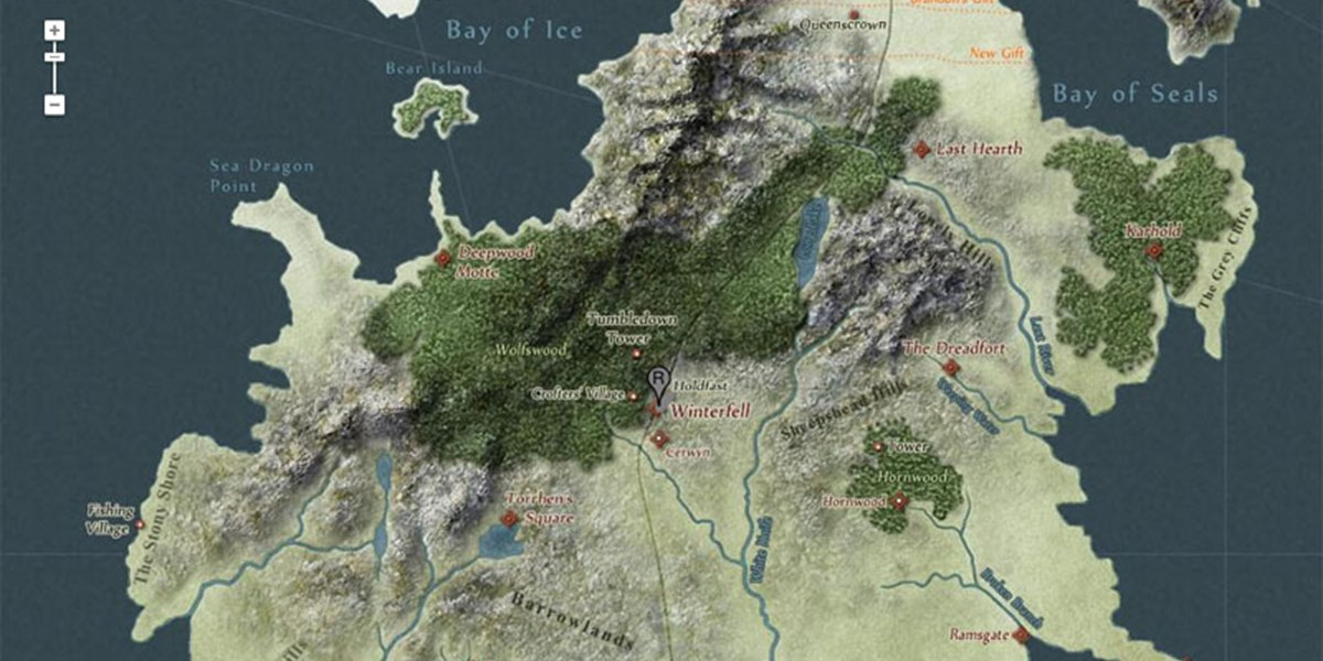 Westeros Karte Interaktiv.Games Of Thrones Map