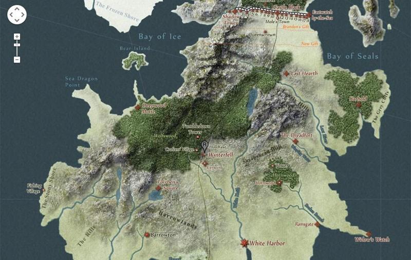 Got Karte Norden.Interaktive Google Map Fur Game Of Thrones Webmix