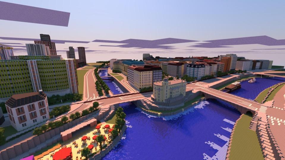 Minecraft Spieler Arbeiten Am Nachbau Von Wien Games - Minecraft spieler melden