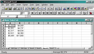 Excel Office 95.