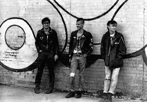 Punks in Evansville, Indiana, USA 1984.