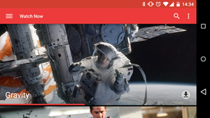 Google Play Movies im neuen Design.