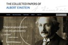 screenshot: the collected papers of albert einstein