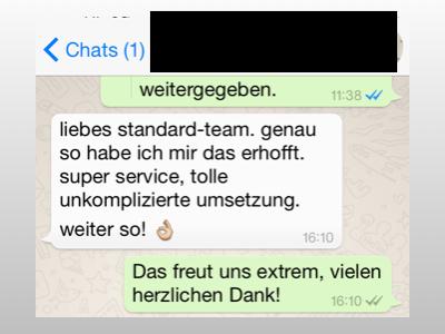 Fragen und Antworten zum WhatsApp-Service von derStandard