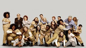 "Chaos im Häfen: Der Cast von ""Orange Is the New Black""."