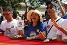 foto: mariela castro, center, daughter of cuba's president raul castro