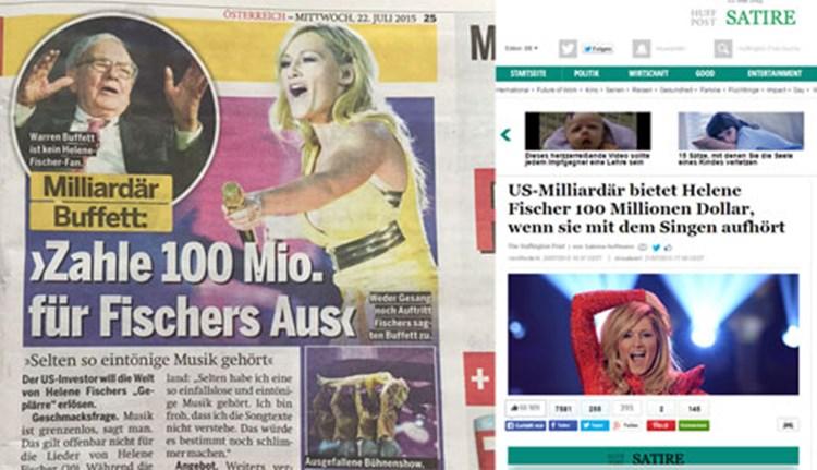 Helene Fischer Satire Osterreich Nimmt Huffington Post Zu