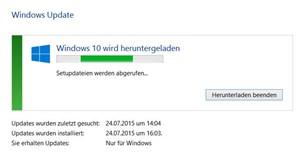 update windows 7 auf 10