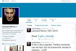 Star-Trek-Legende Leonard Nimoy