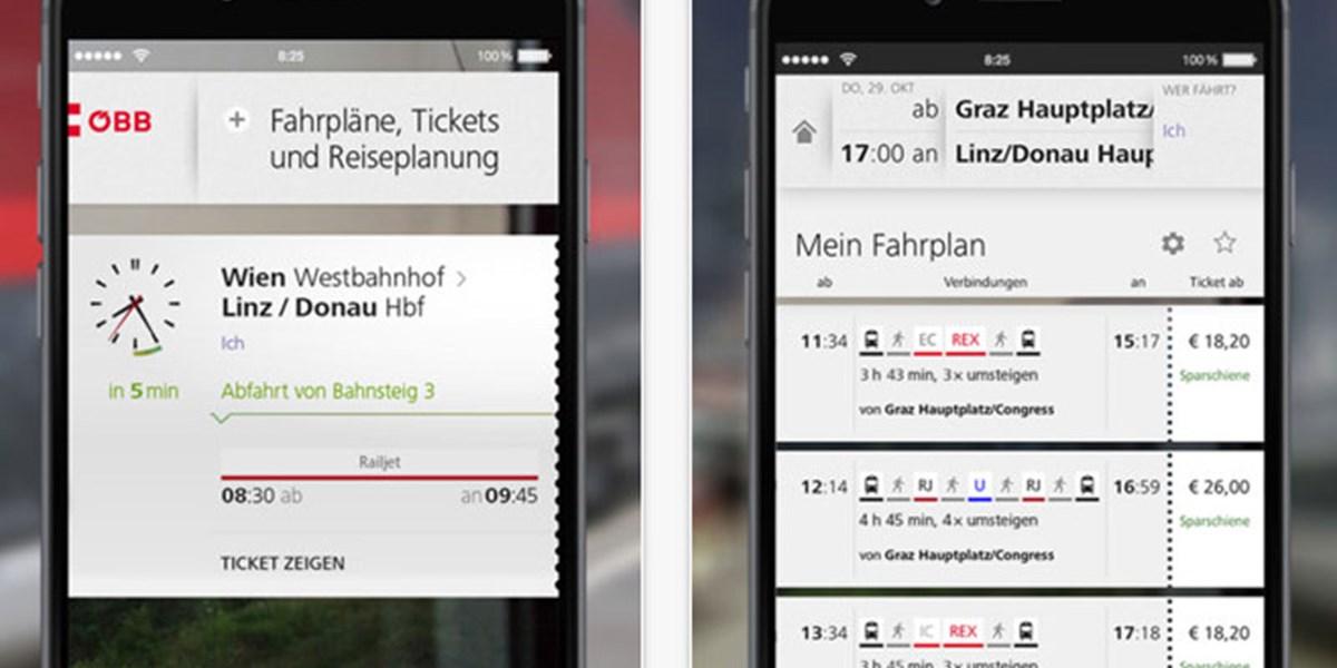 Die öbb Ersetzen Die Bisherige Ticket App Apps Derstandardat Web