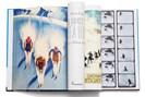 """aufschlagseiten aus gex' """"die kunst des skifahres. vinatge plakate"""", fotografiert von lukas friesenbichler."""