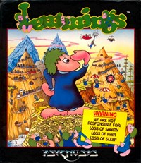 "Das Original-Cover von ""Lemmings""."