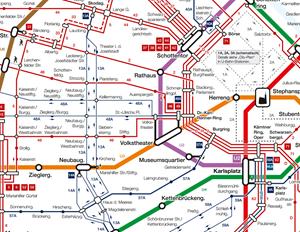 Wiener Linien Legen Ersten Schematischen Netzplan Seit 1977 Auf
