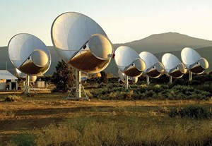 Allen Telescope Array in Hat Creek, Kalifornien.