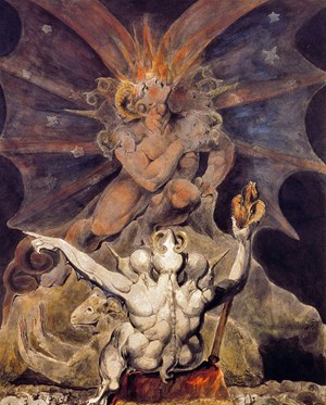 """The number of the beast is 666"" des englischen Dichters und Malers William Blake (1757-1827)."