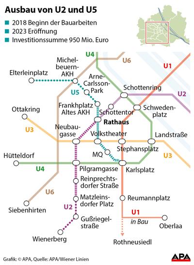 U2u5 In Wien Trassen Und Stationen Des Neuen U Bahn Kreuzes