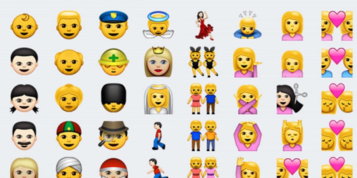 Emojis: Lachender Kothaufen, aber keine einzige Frau mit