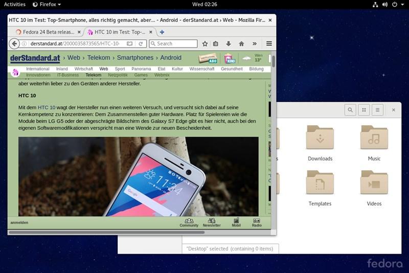Fedora 24: Erste Beta für kommende Linux-Generation - Linux