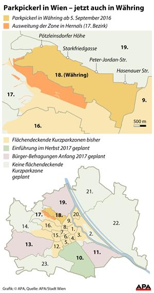 Parkpickerl Ab September In Währing Befragung In Drei Wiener