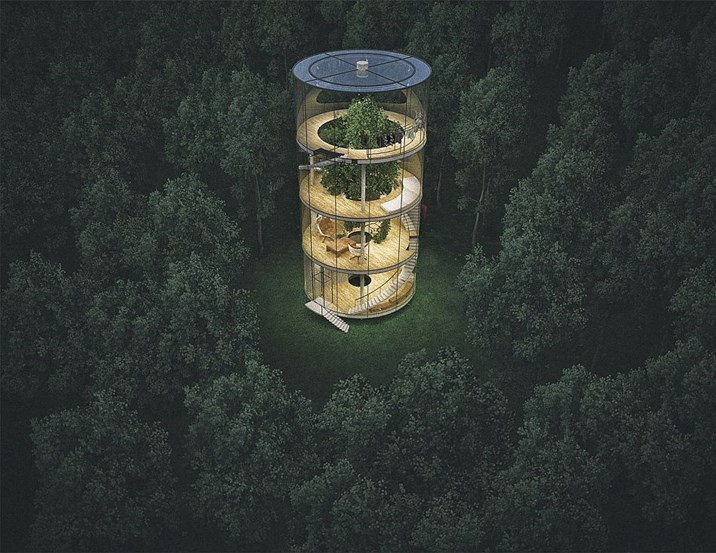Baumhaus Architekturbüro kasachstan hausbaum statt baumhaus architektur stadt