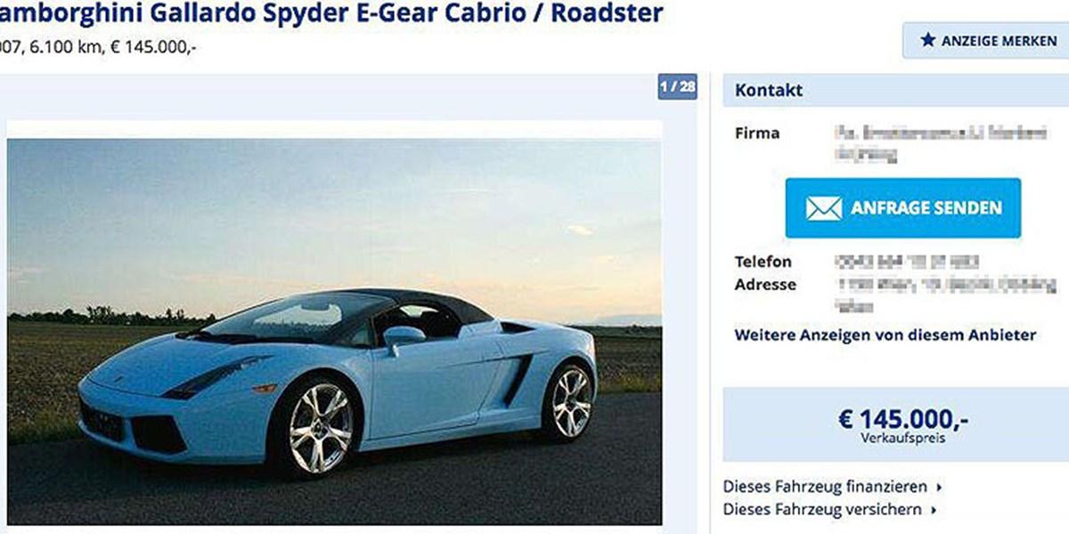 rod stewarts gallardo cabrio zu verkaufen seite 1 auto lifestyle. Black Bedroom Furniture Sets. Home Design Ideas