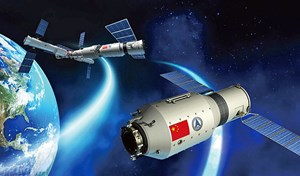 Illustration von Tiangong 2.