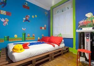 """Airbnb Bettwäsche super mario""""-airbnb: portugiese vermietet wohnung im mario-look"""