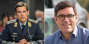 "Florian David Fitz (links) als Major Koch in ""Terror"" und Andreas Jäger."