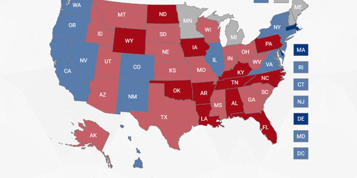 Us Prasidentenwahl Alle Ergebnisse In Der Grafik Usa