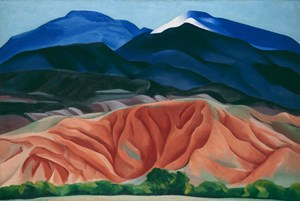 "Georgia O'Keeffe: ""Black Mesa Landscape, New Mexico / Out Back of Marie's II"" (1930)."