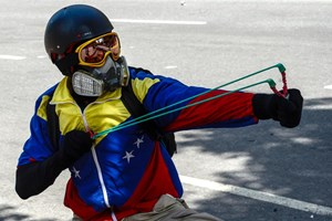 Demonstrant in Caracas.