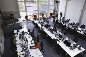 moderne burokonzepte grundriss, moderne büros: haben sie noch einen eigenen schreibtisch, Design ideen