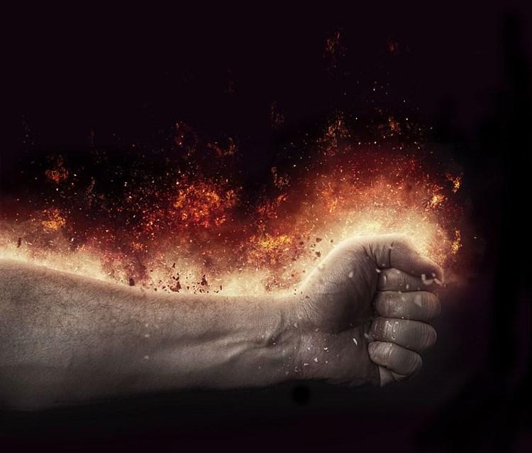 brennende hände