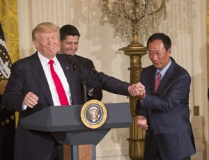 Donald Trump und Foxconn CEO Terry Gou.