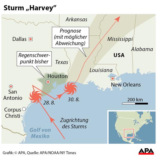 Texas und Louisiana: Hurrikan Harvey: Hoffnung in Houston, Angst in ...