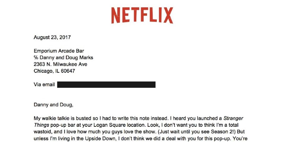 Stranger Things Netflix Rechtsabteilung Schickt Barbetreibern
