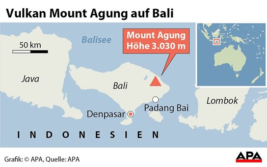 Indonesien: Angst vor Vulkanausbruch auf Bali: 75.000 auf der Flucht ...