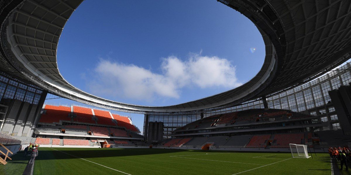 Russland Stadion TribГјne AuГџerhalb