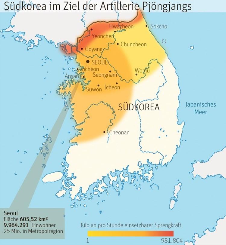 Ein Krieg mit Nordkorea hätte bis zu zwei Milliarden Opfer ...