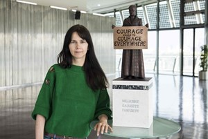 Von Gillian Wearing geehrt: Suffragistin Millicent Fawcett.
