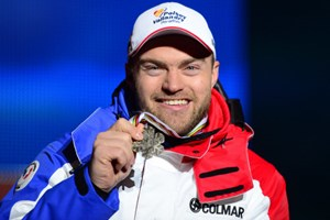 David Poisson als Gewinner der Bronzemedaille 2013 in Schladming.
