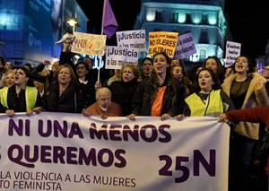 Protest in 'Madrid