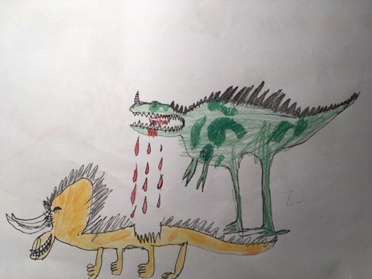 Horror Und Grusel Monsterzeichnungen Von Kinderhand Mitreden Leben Mit Kind Derstandard De Lifestyle